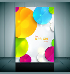Colorful 3d circles - business flyer template vector