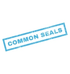 Common seals rubber stamp vector