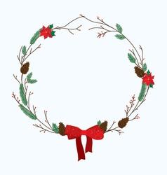 December wreath vector