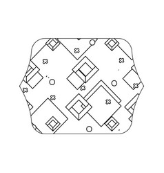 Edge quadrate with geometric style graphic vector