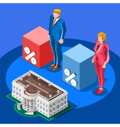 Election infographic presidential score isometric vector