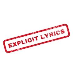 Explicit lyrics text rubber stamp vector