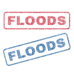 Floods textile stamps vector