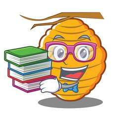 Geek bee hive character cartoon vector