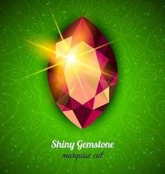 Gemstone on dark background vector image vector image