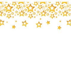 Gold stars christmas decoration backgroud vector