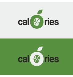 logo icon zero calories a stylized apple vector image vector image