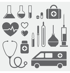 Medical symbols vector image vector image