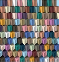multicolor cube background vector image