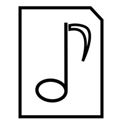 music file icon vector image vector image