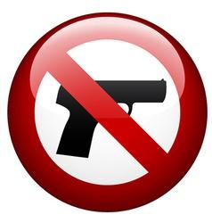 No gun mark vector