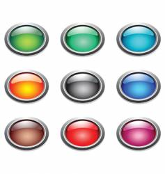 oval buttons vector image vector image