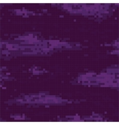 Pixel art night sky seamless pattern vector image vector image