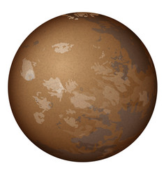planet mars isolated on white vector image vector image
