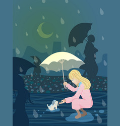 Rainy night 1 vector