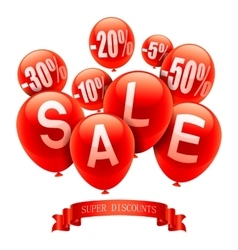 Sale Balloons vector image vector image