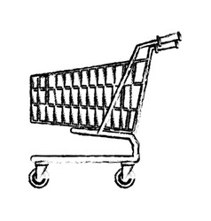 Shopping cart market store empty buy symbol vector