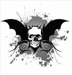 skull vintage vector image vector image