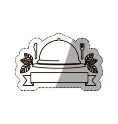 sticker medium shade of tableware cover vector image