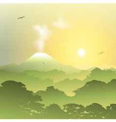 Volcano Landscape vector image vector image