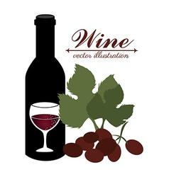 Wine design over white background vector image