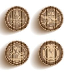 Wine label cask vector