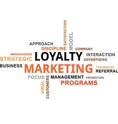 Word cloud loyalty marketing vector