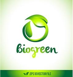 Leaf Logo Bio Logo Icon Leaves vector image