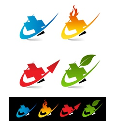 Swoosh Medical Cross Logo Icons vector image