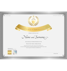 Certificate of participation template vector