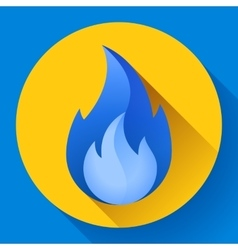 Blue fire flame icon vector image
