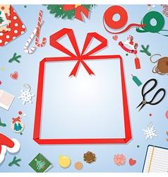 Postcardpaper copyspacepaper gift frame vector