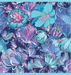 indigo flower pattern vector image