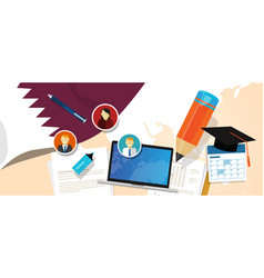 Qatar education school university concept with vector