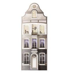 Classic house facade composition vector