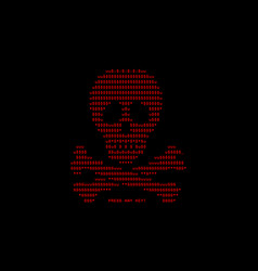 Computer screen with virus attack by virus of vector