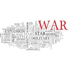 War word cloud concept vector