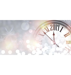 2017 new year shining banner vector