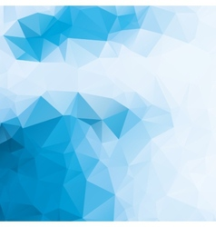 Blue and white abstract background polygon vector