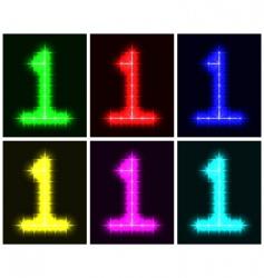 number 1 symbols vector image