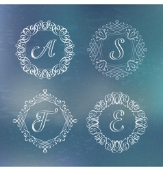 Round calligraphic frame vector