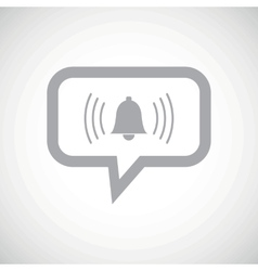Alarm grey message icon vector