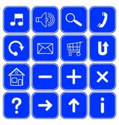 website symbols vector image