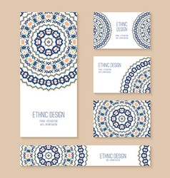 Set of business card banner invitation card vector