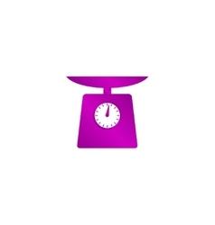 Kitchen scale icon vector