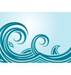 Abstract sea waves vector image