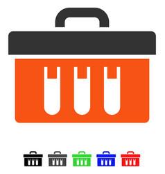 Analysis tubes case flat icon vector