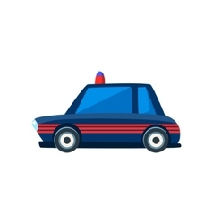 Black police toy cute car icon vector