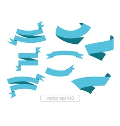 Blue ribbons banners vector