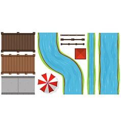 Bridges and rivers vector
